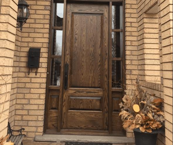 Camwood solid door